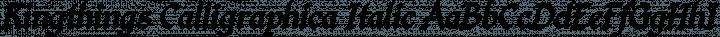 Kingthings Calligraphica Italic free font