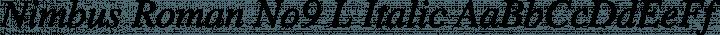 Nimbus Roman No9 L Italic free font