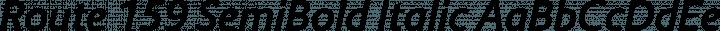 Route 159 SemiBold Italic free font