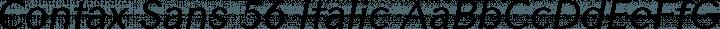 Contax Sans 56 Italic free font