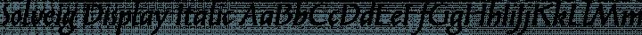 Solveig Display Italic free font