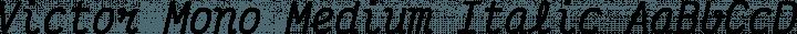 Victor Mono Medium Italic free font