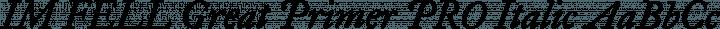 IM FELL Great Primer PRO Italic free font