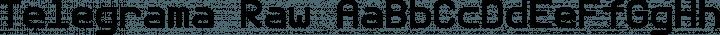 Telegrama Raw free font