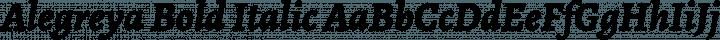 Alegreya Bold Italic free font