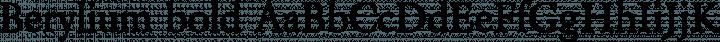 Berylium bold free font