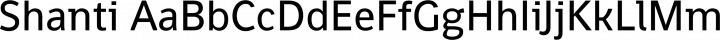 Shanti Regular free font