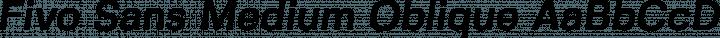 Fivo Sans Medium Oblique free font