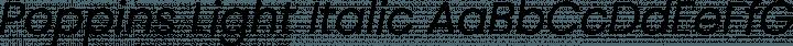 Poppins Light Italic free font