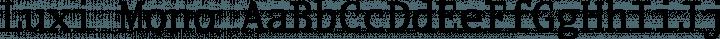 Luxi Mono Regular free font