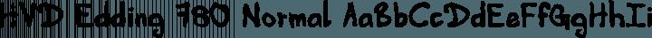 HVD Edding 780 Normal free font