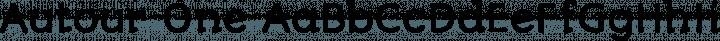 Autour One Regular free font