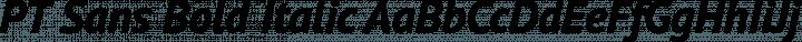 PT Sans Bold Italic free font