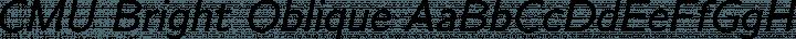 CMU Bright Oblique free font