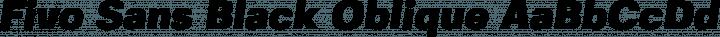 Fivo Sans Black Oblique free font