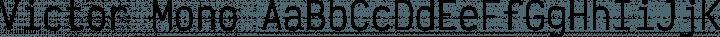 Victor Mono Regular free font