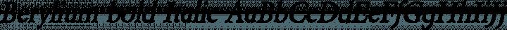 Berylium bold Italic free font