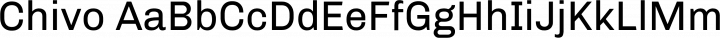 Chivo Regular free font