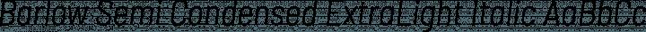 Barlow Semi Condensed ExtraLight Italic free font