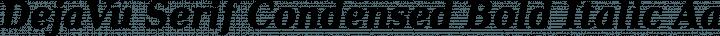 DejaVu Serif Condensed Bold Italic free font