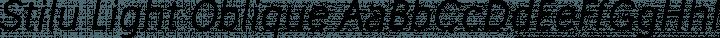 Stilu Light Oblique free font
