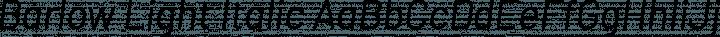 Barlow Light Italic free font