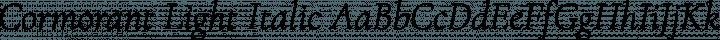 Cormorant Light Italic free font
