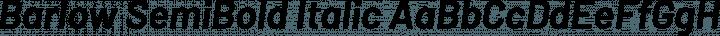 Barlow SemiBold Italic free font