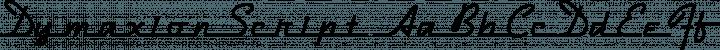 DymaxionScript Regular free font