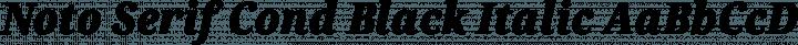 Noto Serif Cond Black Italic free font