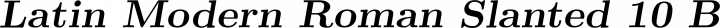 Latin Modern Roman Slanted 10 Bold free font