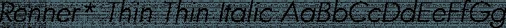 Renner* Thin Thin Italic free font