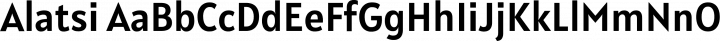 Alatsi Regular free font