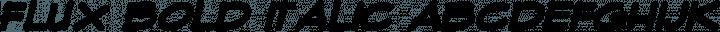 Flux Bold Italic free font