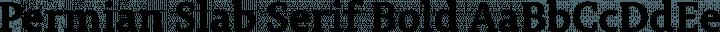 Permian Slab Serif Bold free font