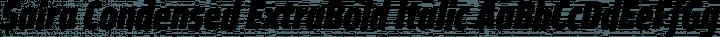 Saira Condensed ExtraBold Italic free font