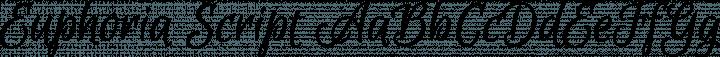 Euphoria Script font family by TypeSenses