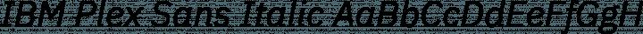 IBM Plex Sans Italic free font