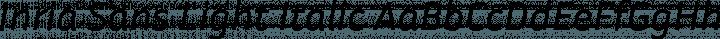 Inria Sans Light Italic free font