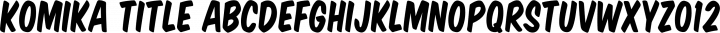 Komika Title Regular free font