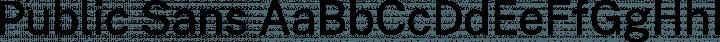 Public Sans font family by U.S. Web Design System