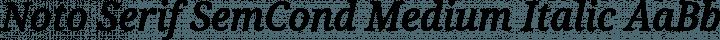 Noto Serif SemCond Medium Italic free font