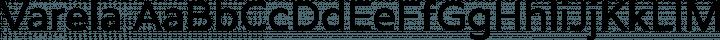 Varela Regular free font