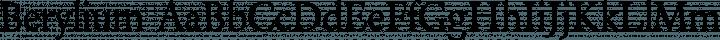 Berylium Regular free font