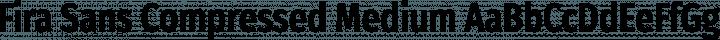 Fira Sans Compressed Medium free font