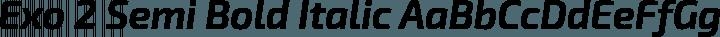 Exo 2 Semi Bold Italic free font