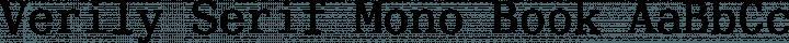 Verily Serif Mono Book free font