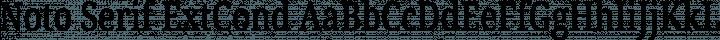 Noto Serif ExtCond Regular free font