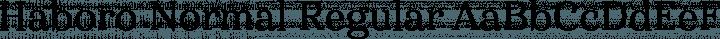 Haboro Normal Regular free font