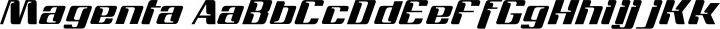Magenta Regular free font